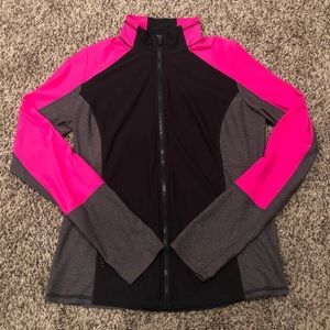 Xersion Black/Gray/Pink Full Zip Athletic Jacket!!